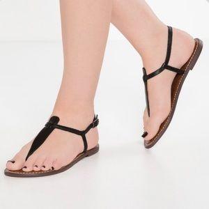 SAM EDELMAN Gigi Black Boa Sandals